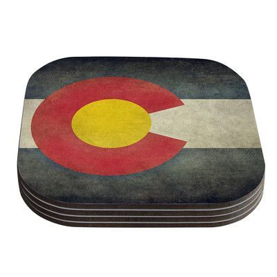 KESS InHouse State Flag of Colorado by Bruce Stanfield Coaster