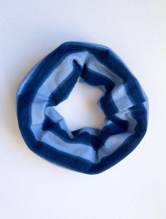Toddler/Child Cowl Scarf - blue on blue ombré stripe on Etsy, $6.00 CAD