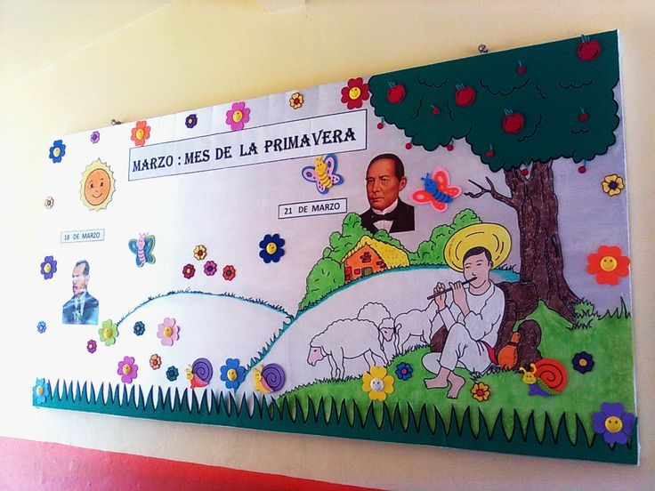 Periodico mural marzo bulletin boards pinterest murals for Diario mural escolar