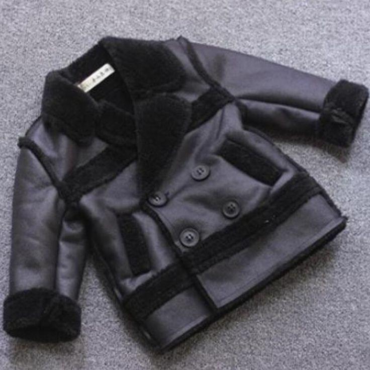 33.24$  Buy now - https://alitems.com/g/1e8d114494b01f4c715516525dc3e8/?i=5&ulp=https%3A%2F%2Fwww.aliexpress.com%2Fitem%2F2017-New-Girls-Boys-Leather-Jacket-Fashion-Children-Outerwear-Winter-Plus-Velvet-Warm-Faux-Leather-Kids%2F32790339218.html - 2017 New Girls Boys Leather Jacket Fashion Children Outerwear Winter Plus Velvet Warm Faux Leather  Kids Clothing 33.24$