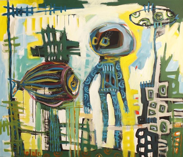 "Manuella Guiragossian; Acrylic, 2010, Painting ""Reef"": Paintings Reefs"
