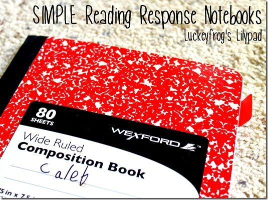 Reader's Response Journal Ideas- I am definitely doing this for my class next year! Great way to get kids really thinking (and keep it from getting too complicated for me!)