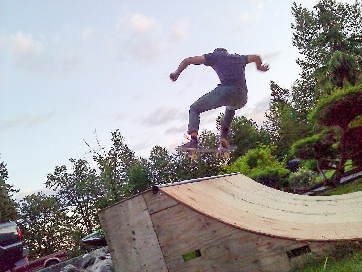 Above the coping