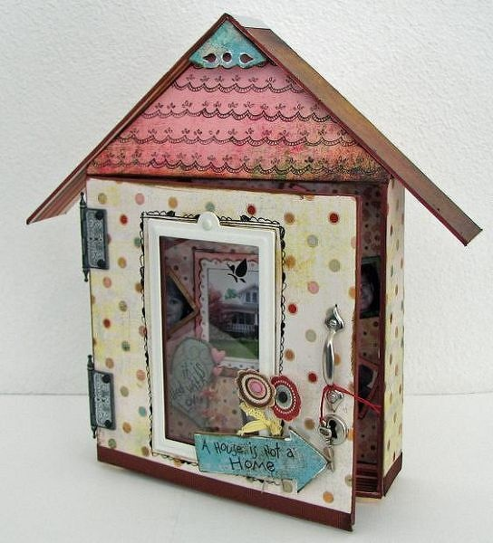 Altered art doll houses