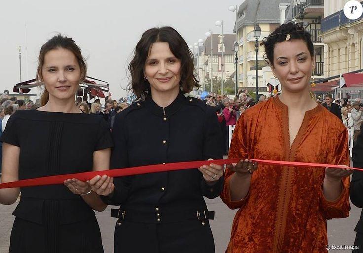 Virginie Ledoyen, Juliette Binoche et Loubna Abidar - Ouverture du 30e Festival du Film de Cabourg en France le 8 juin 2016.