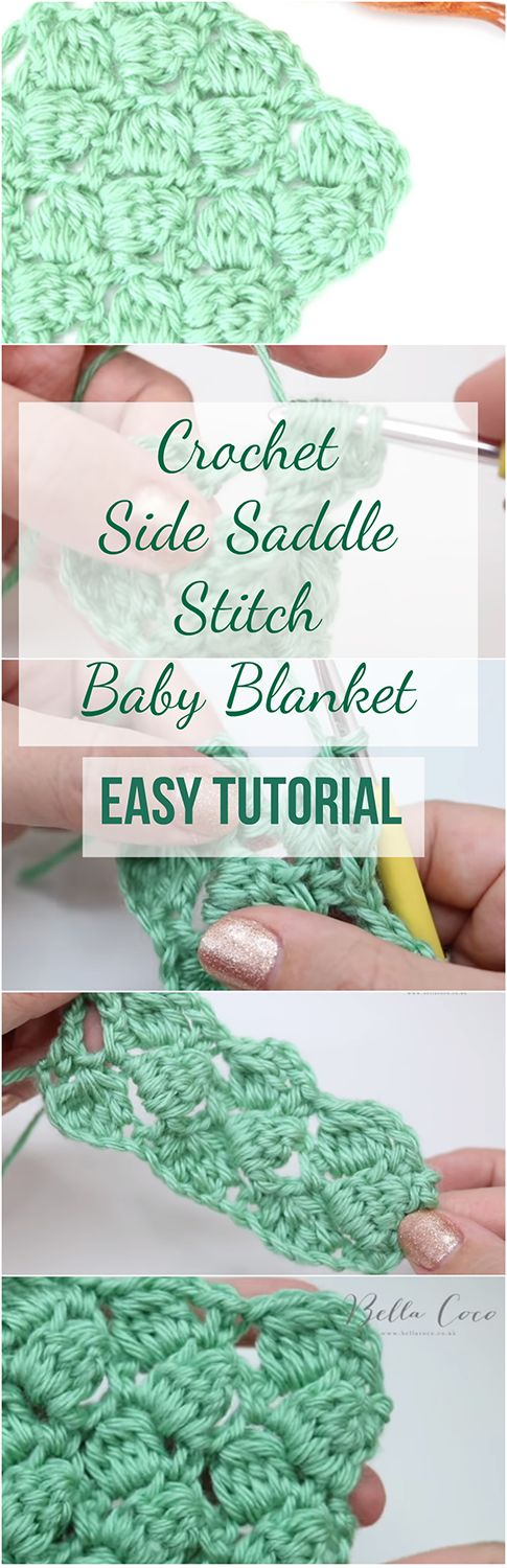 Crochet Side Saddle Stitch Baby Blanket Easy Tutorial