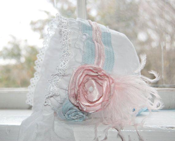 Baby Bonnet  Newborn Photo Prop  Vintage by LittleLadyAccessory, $24.00