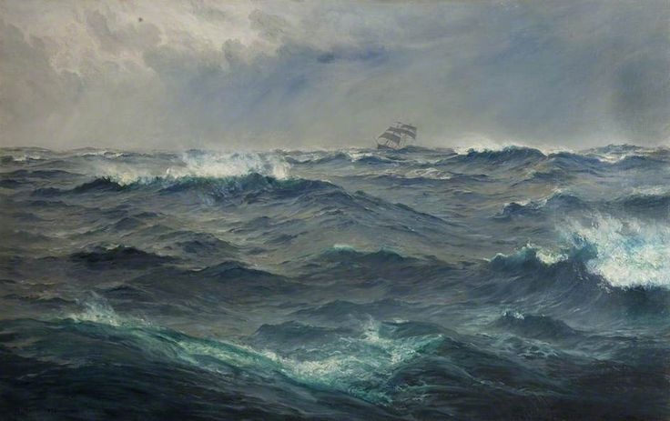 """""""Rough Weather in the Mediterranean"""" by Henry Moore"""