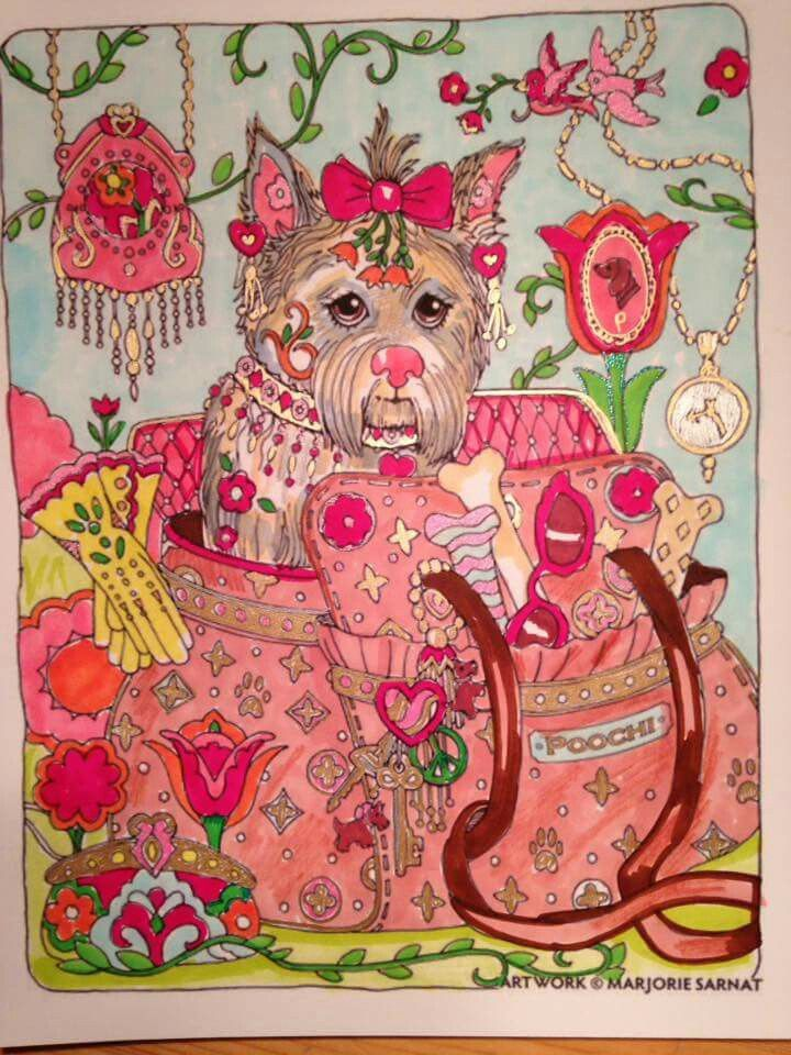 coloured pencils afghan patterns dog art coloring books colouring punch needle hobbies heaven coloring book chance - Colored Pages