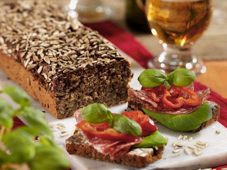 Danskt rågbröd med solrosfrön
