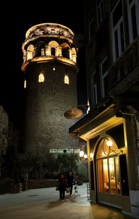 Galata tower, Istanbul - I walked across the Galata bridge and all the way to the tower; what a city!