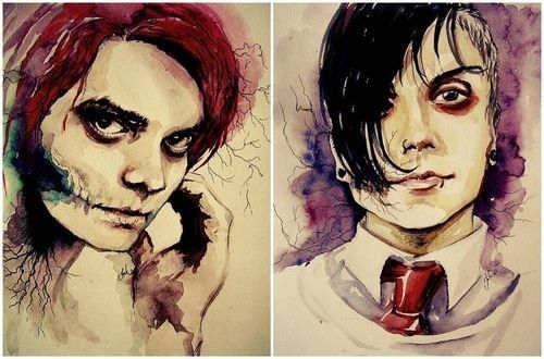 My Chemical Romance ~ Frank Iero and Gerard Way art>>>> should I try to draw this? Do you think I even can or should?>>> How do people have so much talent?