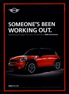 MINI USA's ad agency Butler, Shine, Stern & Partners has followed up its first US MINI Countryman print ad with this new one featuring a Pure Red MINI Cooper S Countryman ALL4.