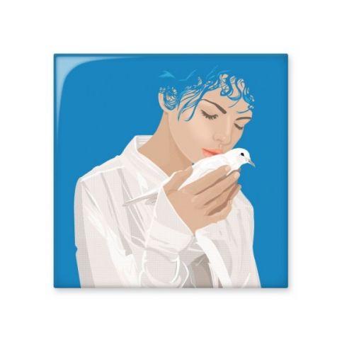 Blue Peace Girl Dove Anti-war Design Illustration Pattern Ceramic Bisque Tiles for Decorating Bathroom Decor Kitchen Ceramic Tiles Wall Tiles #CeramicTiles #Blue #CeramicBisqueTiles #Peace #Homedecal #Girl #Walltiles #Dove #Bathroomdecoration #Anti-war #Kitchendecoration #Design