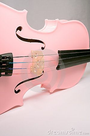 pink violin  @Beth Nativ A would Love this color on an instrument. Especially it it was a quitar or a dog house base. :)