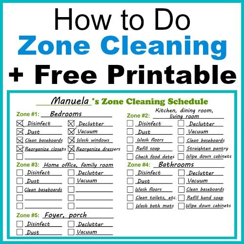 Zone Cleaning Schedule Kids