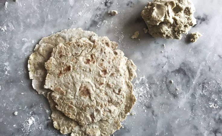 Tunnbröd/wraps på bovetemjöl o potatis