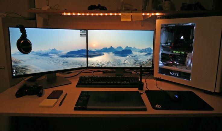 15068 Best Gaming Desk Images On Pinterest Pc Setup