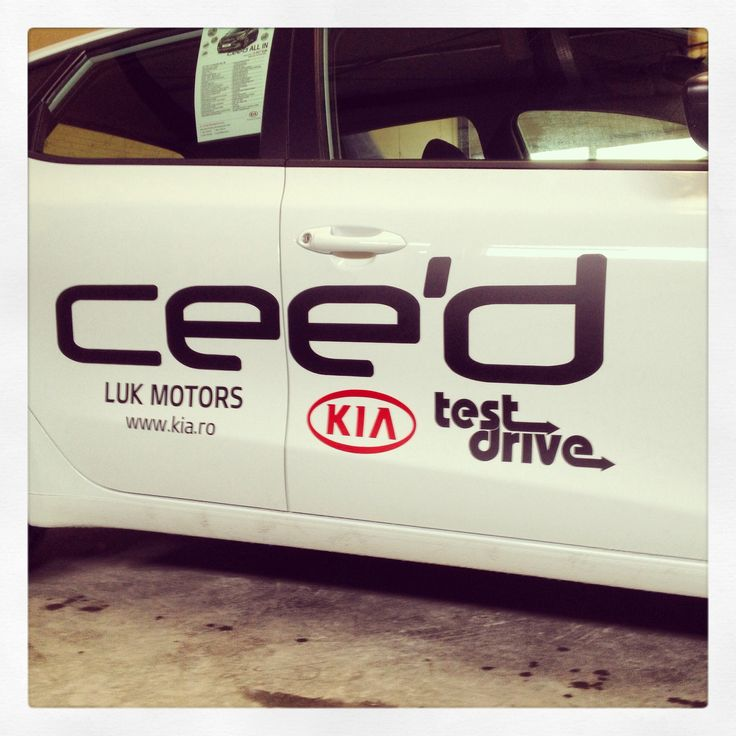 Branding for test drives the new Kia Cee'd