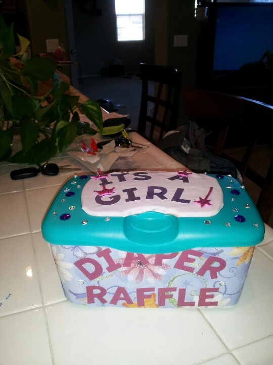 Use A Diaper Wipe Case And Cover It With Pretty Paper For