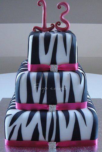 Diva Zebra Print Cake