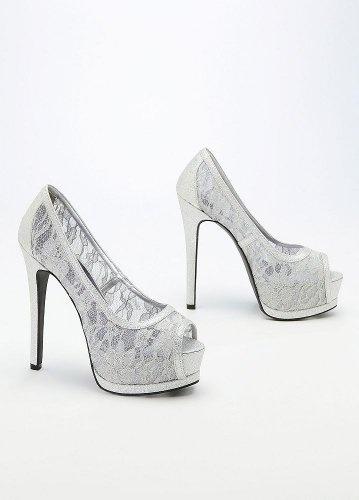 Shell and Nita..this a Bad Shoe 2!! David's Bridal Wedding & Bridesmaid Shoes Glitter Lace Peep Toe Double... David's Bridal,http://www.amazon.com
