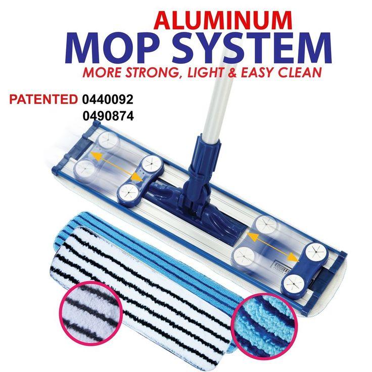 Ultra Fine Microfiber Aluminum Floor Mop Kit Dust Dirt Easy Cleaner Sweeper DMC #DMC