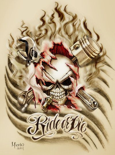 50 best images about skulls on pinterest illusions how for Ride or die tattoo