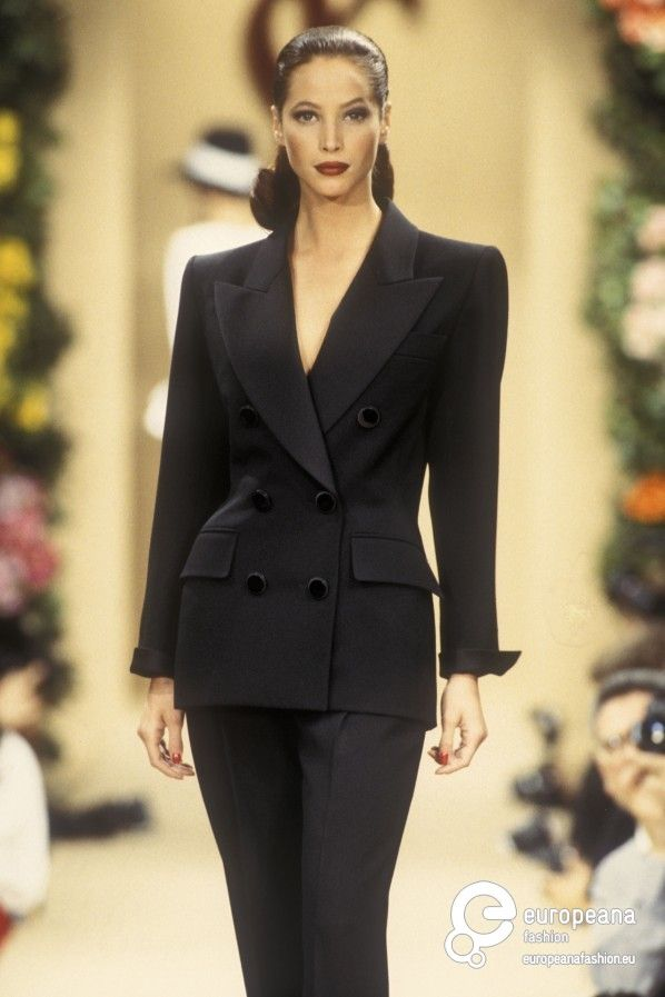 Christy Turlington for Yves Saint Laurent, Spring-Summer 1993, Couture