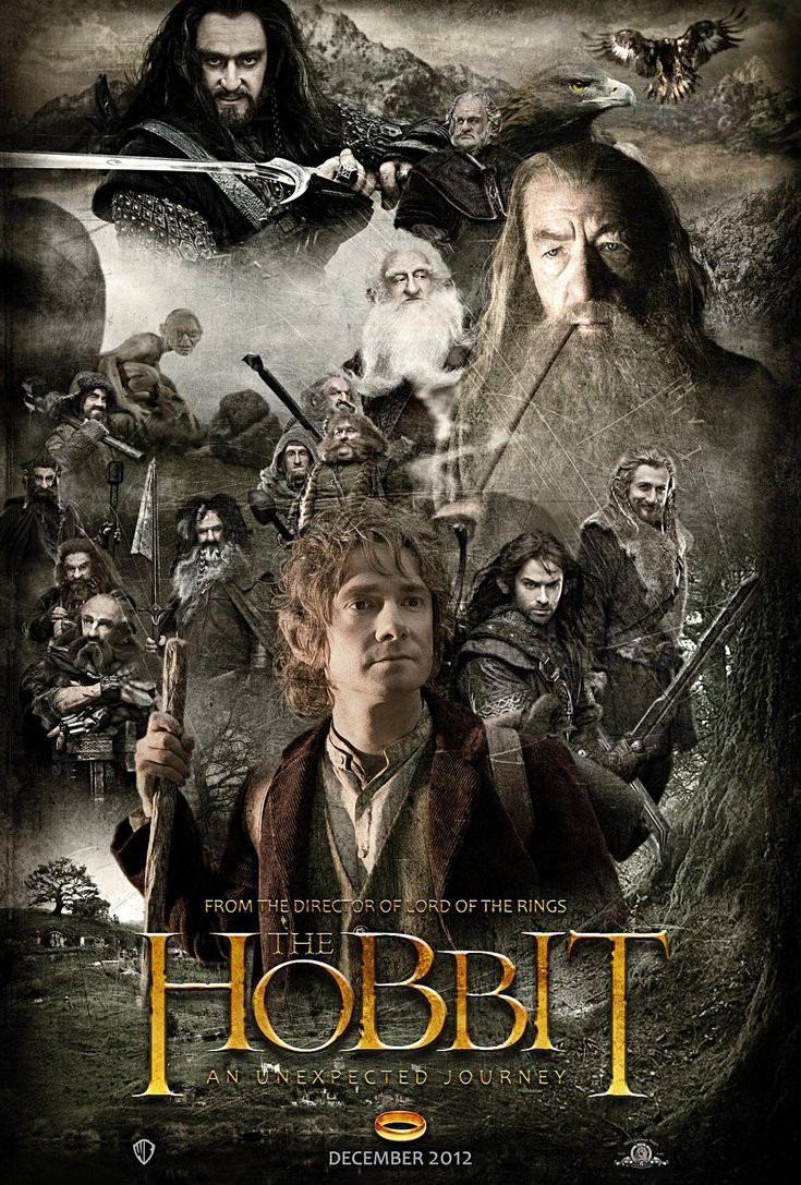 映画「ホビット」のポスター映画ホビットの世界。
