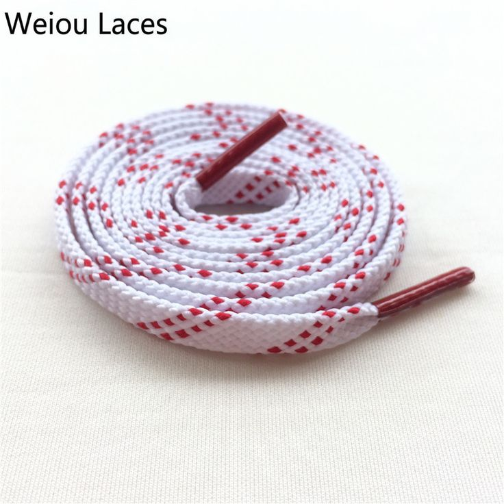 Brand Weiou New White Red Flat Tublar Sports Shoelaces With Red Tips Fashion Athletic Shoestrings Cleaning Football Boot Laces