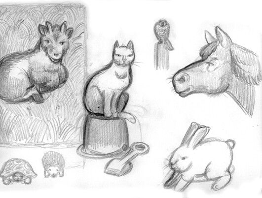 The first sketches for my latest job.