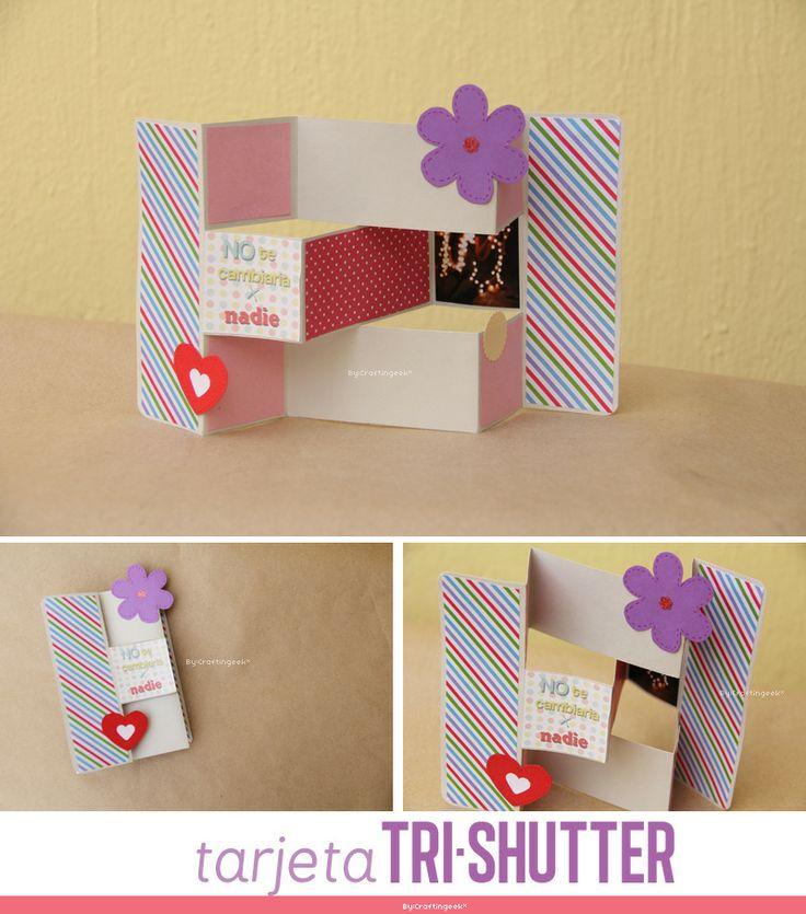 C mo hacer la tarjeta trishutter procedimiento facil - Ideas manuales para regalar ...