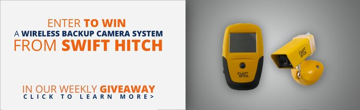We're nearing the end of the giveaway for the Swift Hitch SH01 Wireless Backup Camera System! If you would like to enter, find out how here --> https://www.rvupgradestore.com/RVupgrades_weekly_giveaway-a/619.htm?utm_content=bufferb36d7&utm_medium=social&utm_source=pinterest.com&utm_campaign=buffer