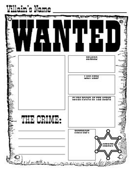 """This is a fun activity to compare/contrast the Big Bad Wolf character in the fairy tales, """"Little Red Riding Hood""""  """"The Three Little Pigs"""". You can also use the Wanted Poster for any fairy tale villain you are reading about with your class."""