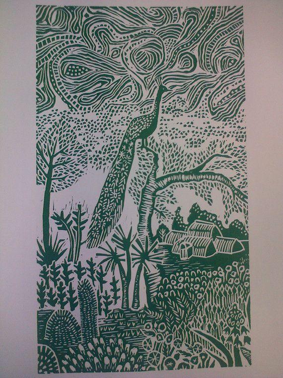 Single layer lino print inspired by Kew by ZenaParkerDesigns, £20.00
