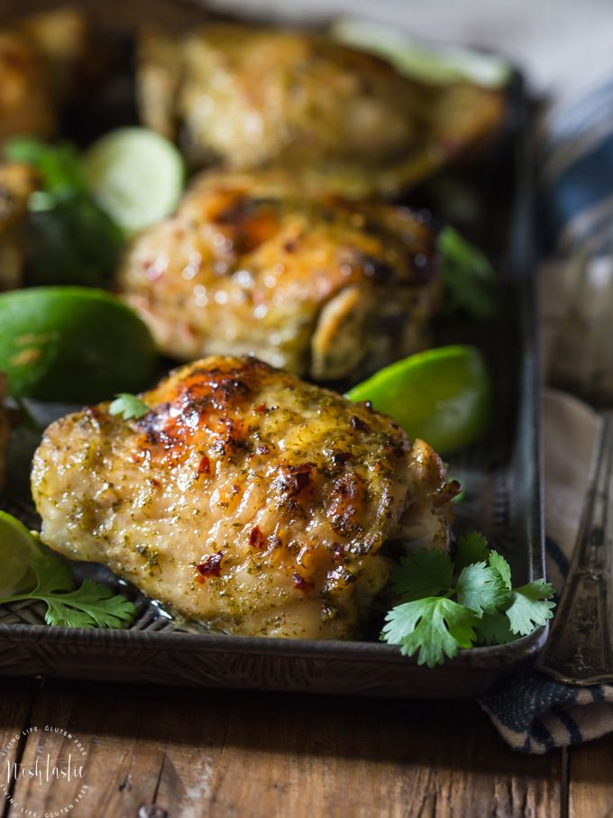 You'll be in Chicken heaven with this easy to make Paleo Cilantro Lime Chicken with Garlic! With only 247 calories per serving and 5 Weight Watchers SmartPoints| Paleo, gluten free, with Whole30 option |