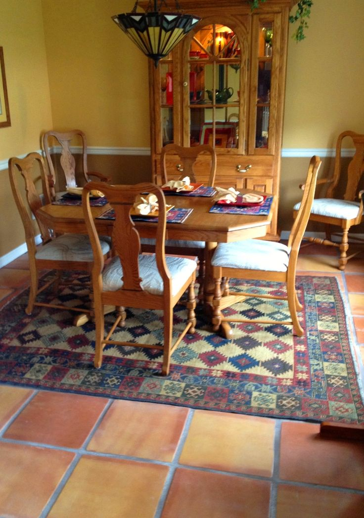 28 best traditional saltillo tile for the home images on for 8x8 dining room