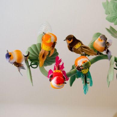Ook leuk bij @bollieboom! Set van 6 kleurrijke vogels