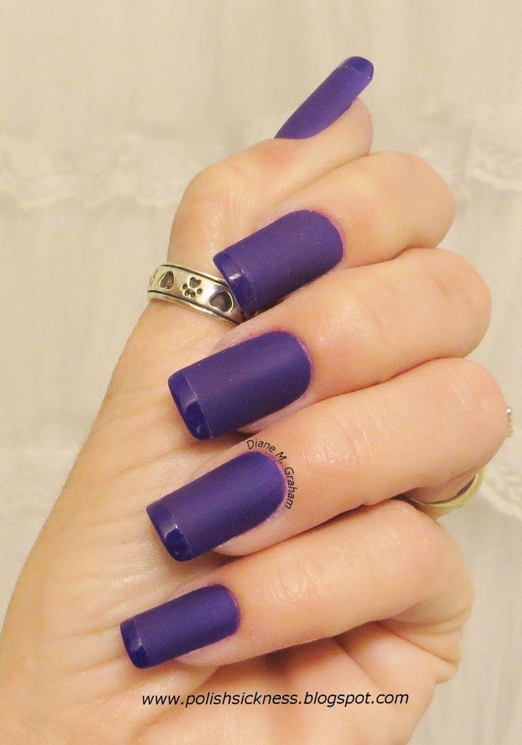 Purple Matte French nail design