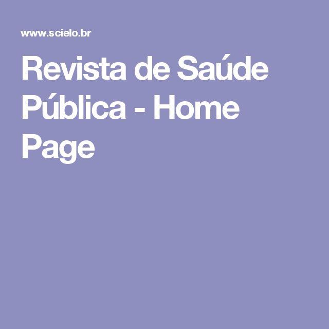Revista de Saúde Pública - Home Page