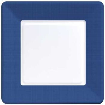 Coordinate Textured Square 9-inch Plates, Navy Blue