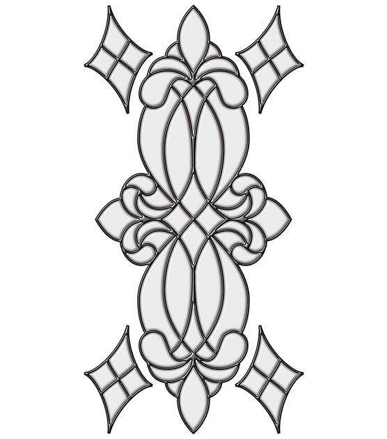 Stained glass pattern for a design.