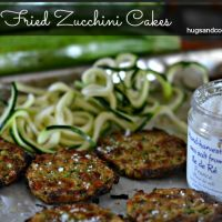 Oven Fried Zucchini Cakes