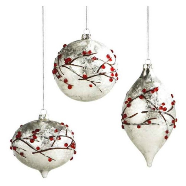 Midwest CBK Winter Song Frosted Berry Ornaments Set Of 6