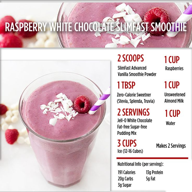 Craving something sweet? Try this delectable Raspberry White Chocolate Smoothie! SlimFast | Shake | Healthy | Recipe | Nutrition | Diet
