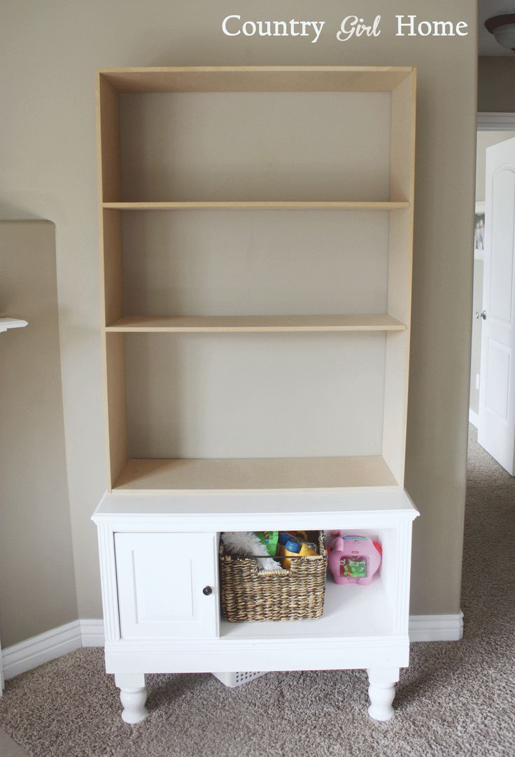 COUNTRY GIRL HOME : From small to tall... add a bookshelf to an end table.  DIY