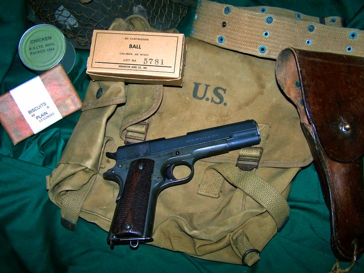 """Springfield Armory M1911 Pistol - Few military firearms can be documented with service in multiple conflicts, but this GOTD followed Pancho Villa with a NJ cavalry unit during the Punitive Expedition, then was issued to an artillery regiment & went """"over there"""" for the Great War. Like many 1911s, this handgun was reported stolen after WWI, but was recovered. In 1940, its final military issue – recorded in the National Archives, was to a small post in the Hawaiian Islands – Schofield…"""