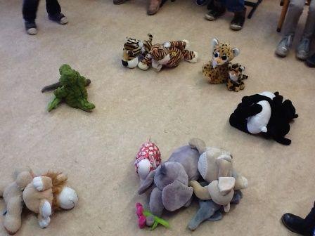 * Dierentuindieren in de kring - classificeren Nodig: dierentuindieren (kunsstof of knuffels) en hoepels