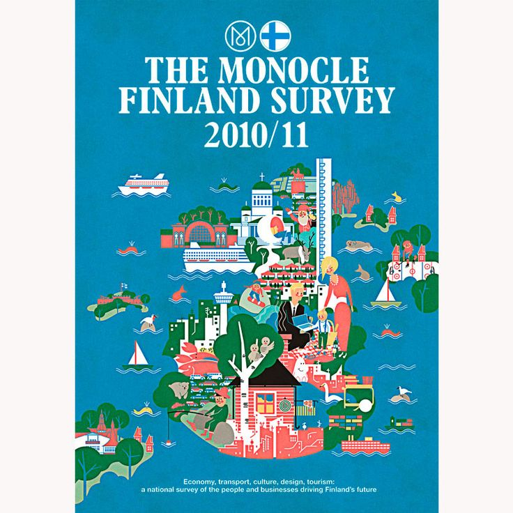 "Illustration for Monocle ""..the people and businesses driving Finland's future"" by Vesa Sammalisto"